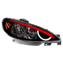 چراغ جلو خودرو طرح انگری کج مناسب برای پژو ۲۰۶